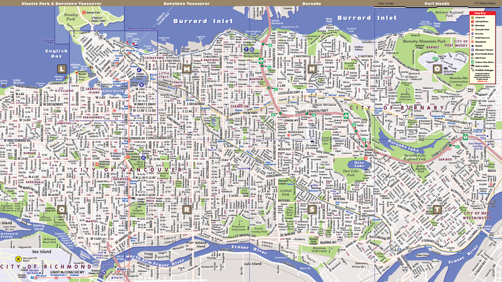 VanDam Maps - Image Gallery VANCOUVER MAP