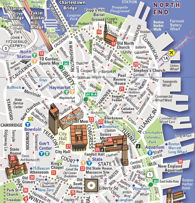 Vandam Maps Image Gallery: Map Of Boston Downtown At Usa Maps