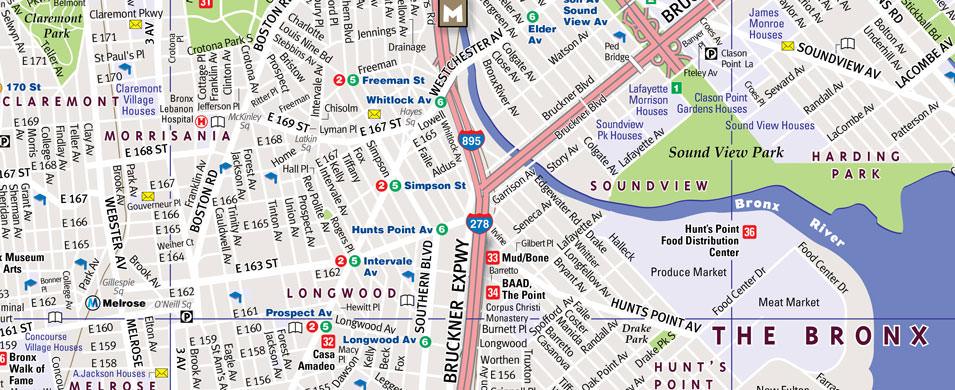 Map Of New York Bronx.Vandam Bronx Streetsmart Map