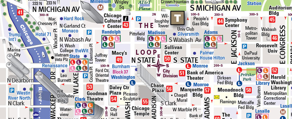 Chicago Hotel Maps on
