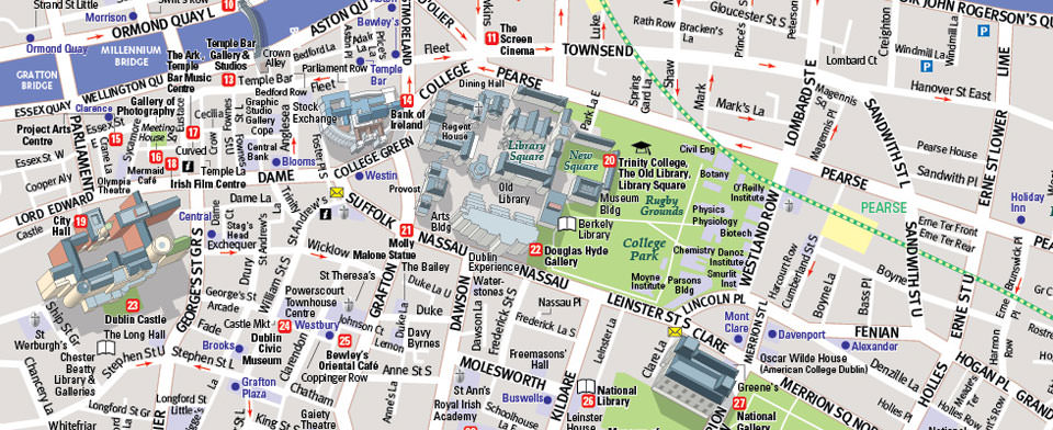 Dublin Map by VanDam | Dublin StreetSmart Map | City Street Maps of ...