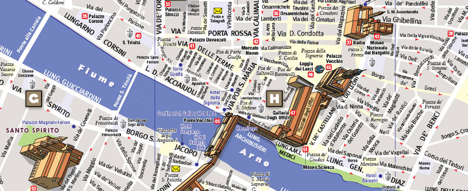 Florence Map by VanDam Florence StreetSmart Map City Street Maps