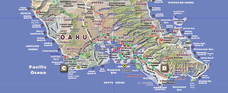 VanDam Hawaii StreetSmart map detail