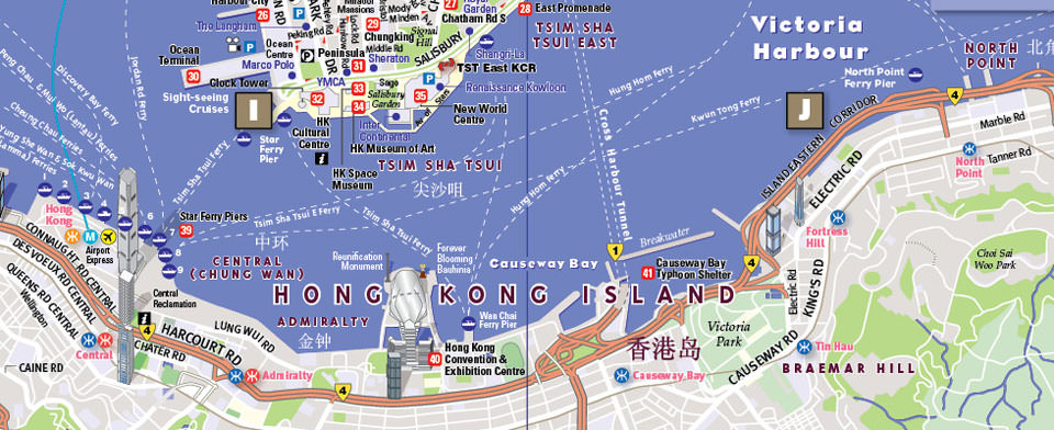 VanDam Hong Kong StreetSmart map detail