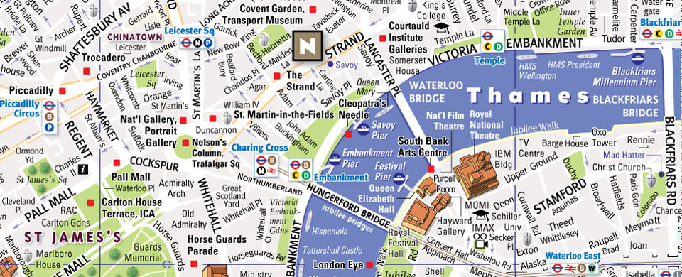 map of london neighborhoods and attractions