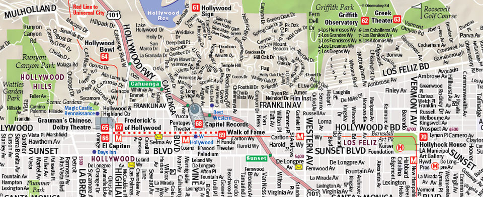 VanDam Los Angeles StreetSmart map detail