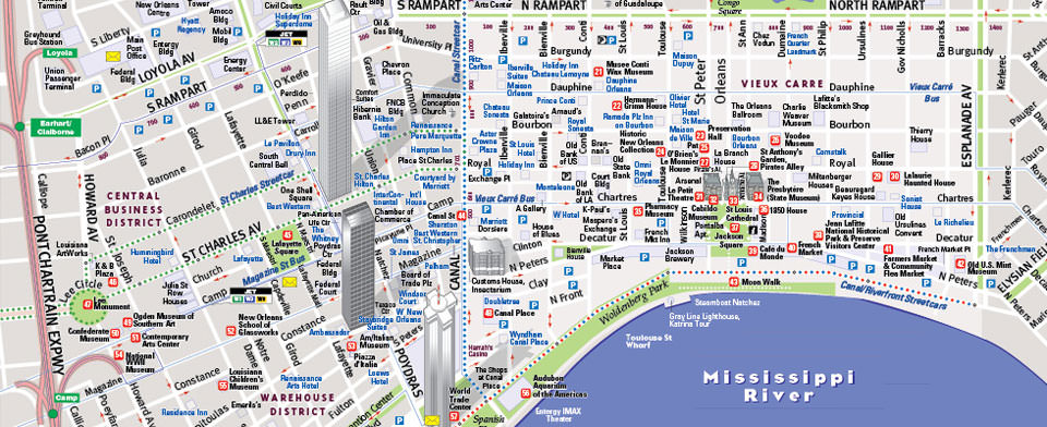 VanDam New Orleans StreetSmart map detail