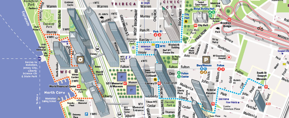 Detailed Map Of New York City.Vandam Nyc 9 11 Streetsmart Map