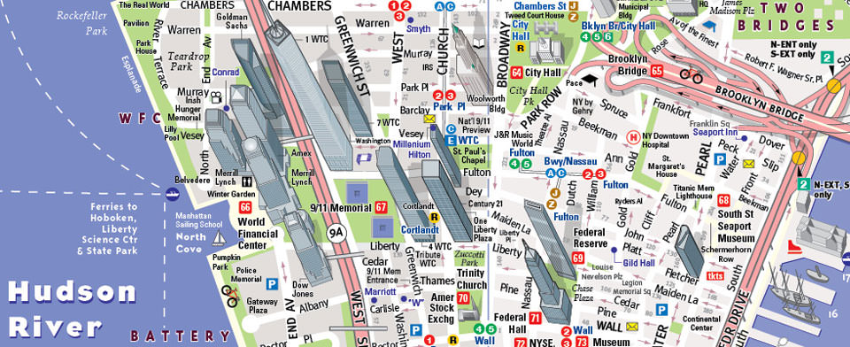 NYC Map By VanDam NYC Downtown StreetSmart Map City Street - Nyc map