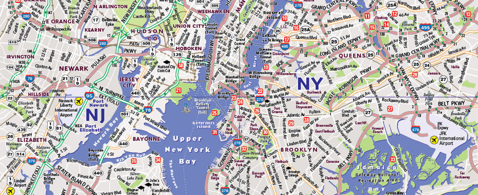 VanDam NYC Five Boro StreetSmart map detail