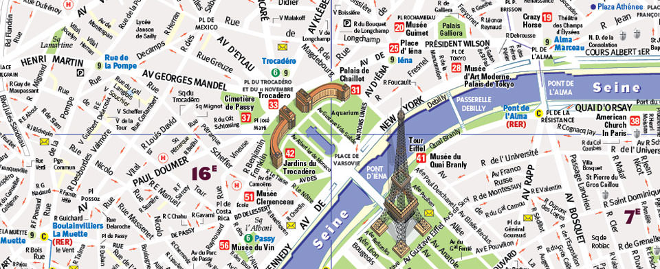 VanDam Paris StreetSmart map detail