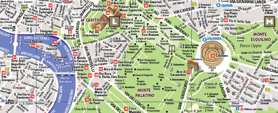 Rome Map by VanDam Rome StreetSmart Map City Street Maps of Rome