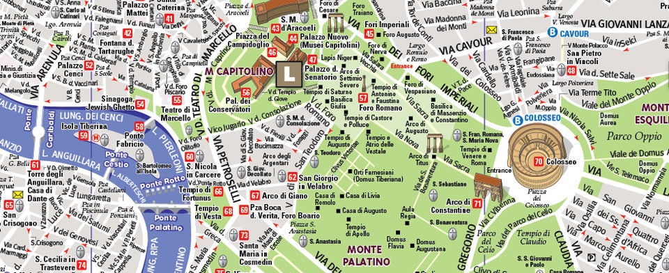 Rome Map by VanDam | Rome Unfolds Map | City Street Maps of Rome | Download Map Of Rome on
