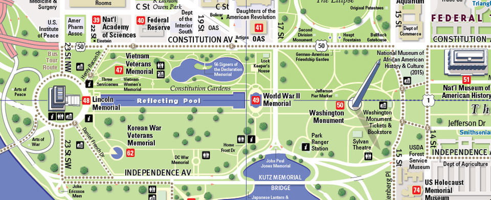 Washington DC Map by VanDam Washington DC Smithsonian Map City