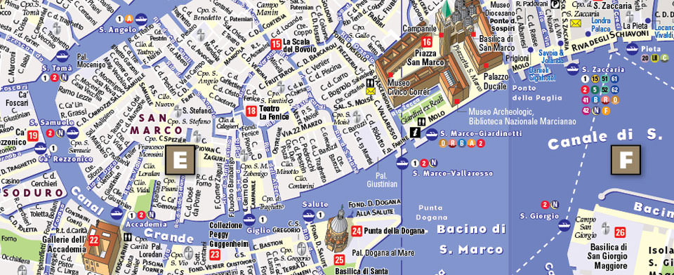 Venice Map By VanDam Venice StreetSmart Map City Street Maps - Venice map image