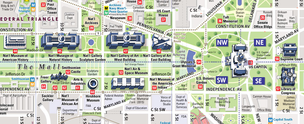 VanDam Washington D.C. Mall Map by VanDam