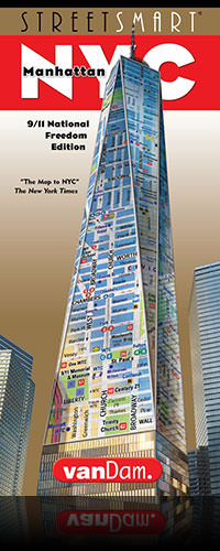 NYC 9/11 StreetSmart street map