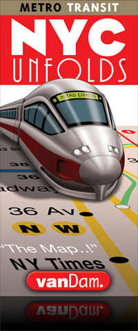 NYC Transit Unfolds street map