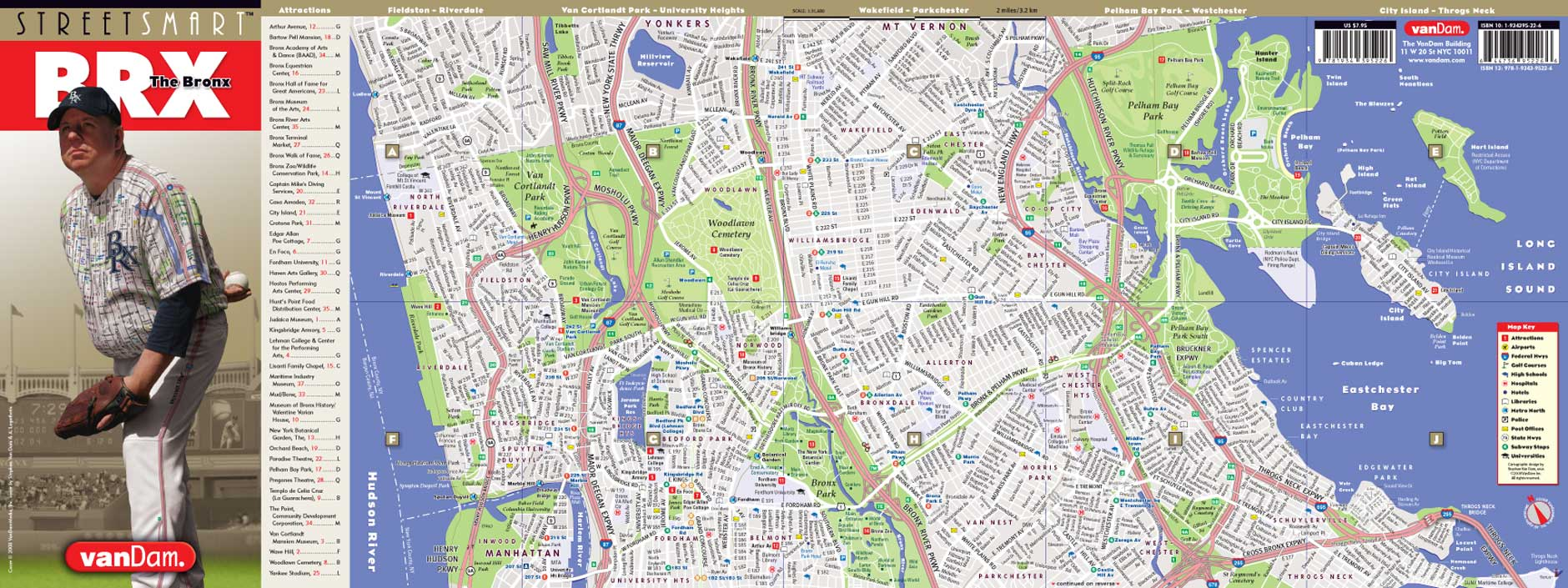Bronx Map by VanDam | Bronx StreetSmart Map | City Street Maps of