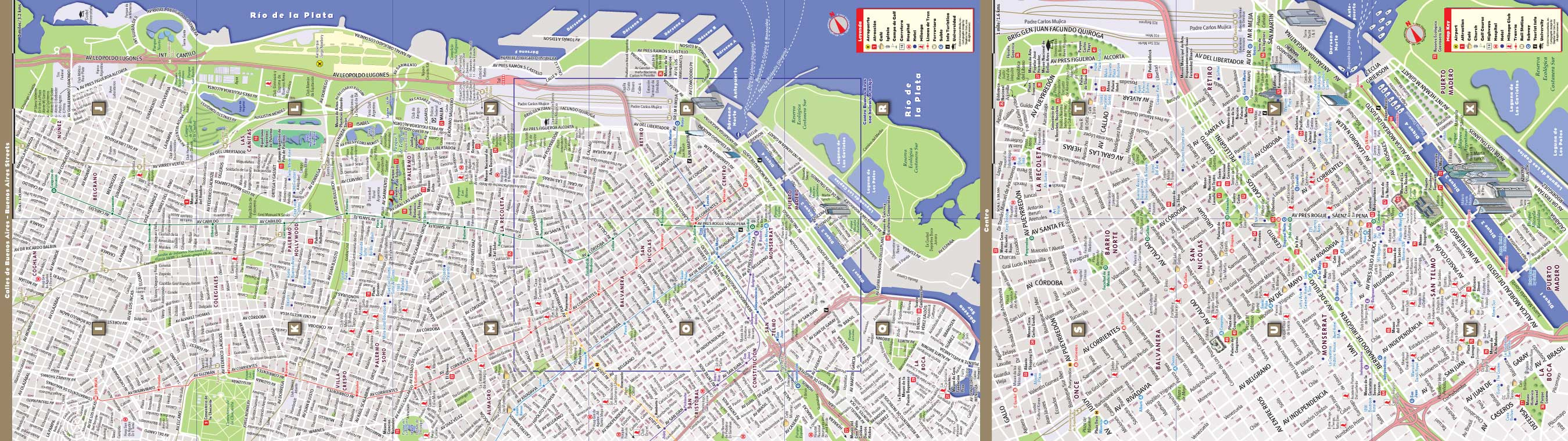 Buenos Aires Map by VanDam Buenos Aires StreetSmart Map City
