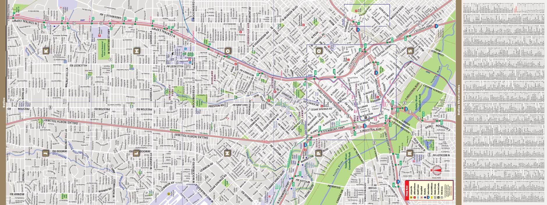 Dallas Map By VanDam Dallas StreetSmart Map City Street Maps - Nyc unfolds map