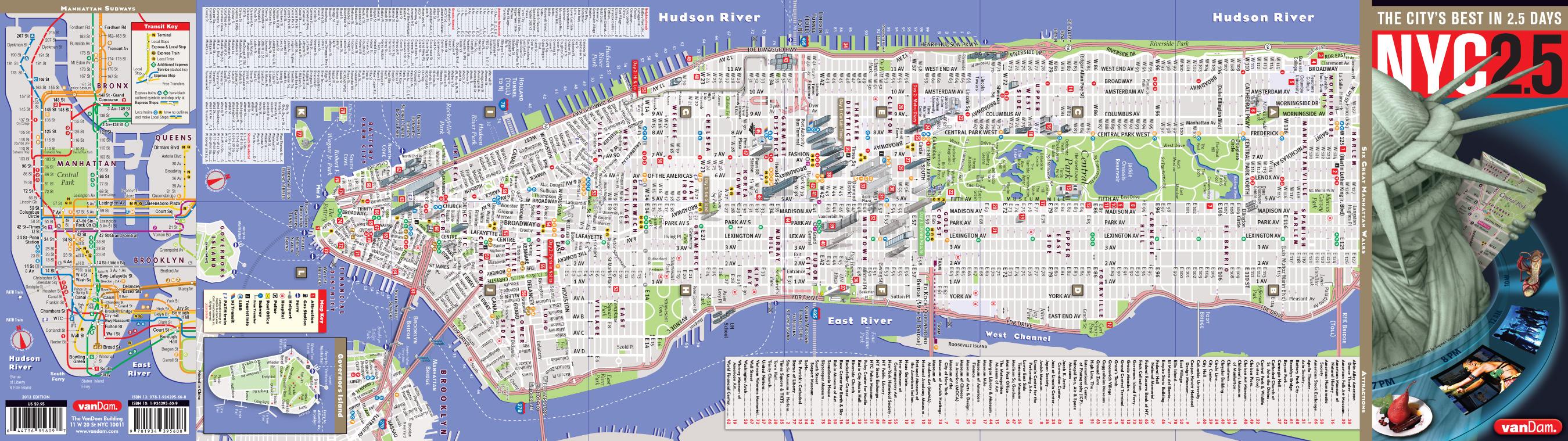 New York City Map By VanDam NYC  StreetSmart Map City - Nyc unfolds map
