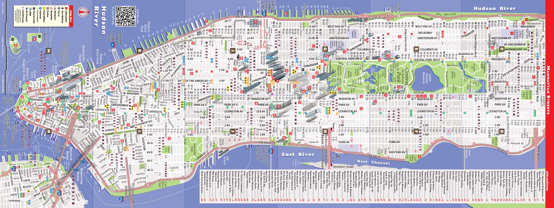 streetsmart new york city map click map to magnify