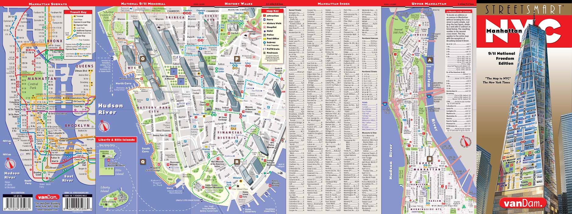 New York City Map By VanDam NYC  Mem StreetSmart Map City - New york map city