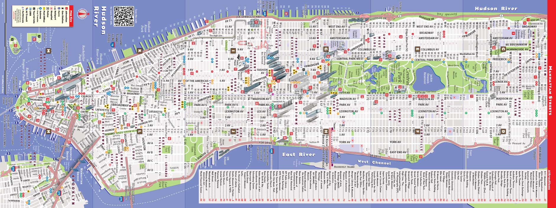 NYC Map by VanDam | NYC Midtown StreetSmart Map | City Street Maps ... NYC MAP
