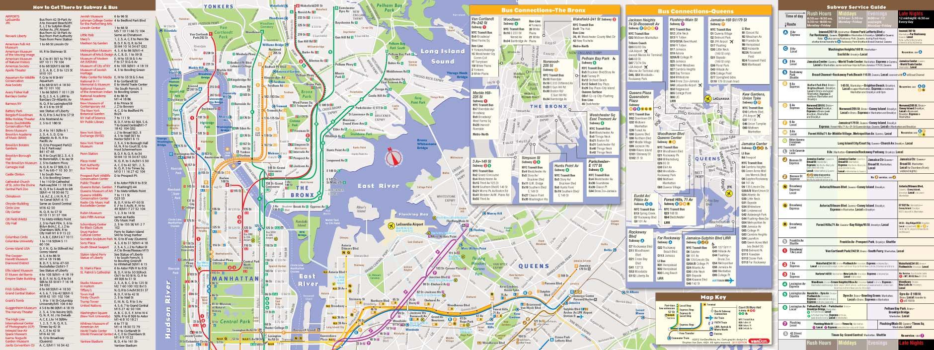 NYC Map By VanDam NYC Transit StreetSmart Map City Street Maps - Nyc unfolds map