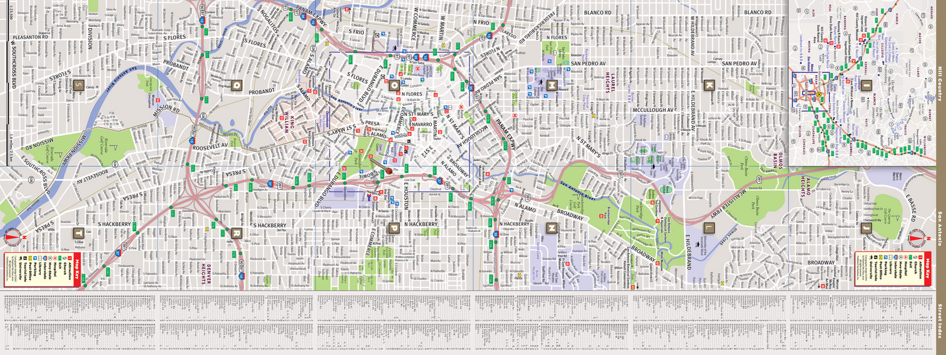 Map Of San Antonio Texas For : Direction Maps