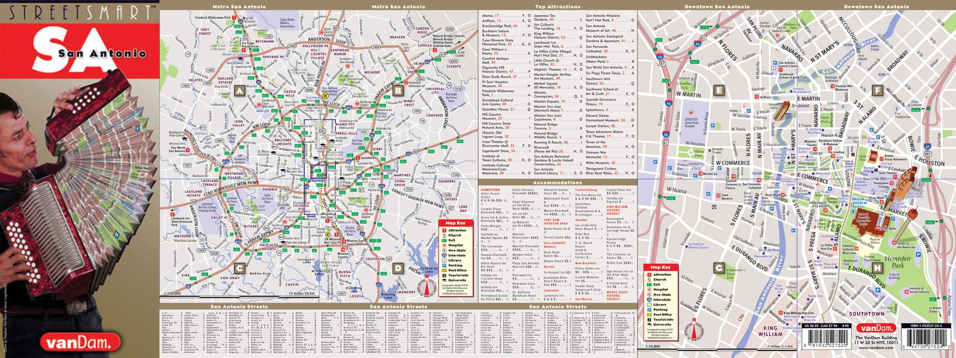 VanDam San Antonio StreetSmart Map