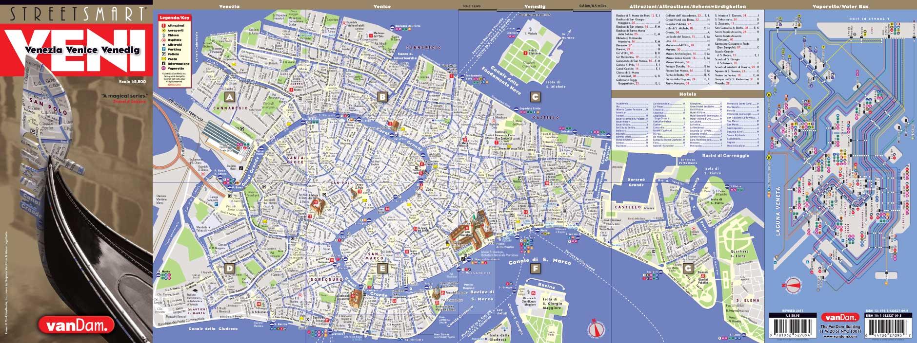 Venice Map By VanDam Venice StreetSmart Map City Street Maps - Nyc unfolds map