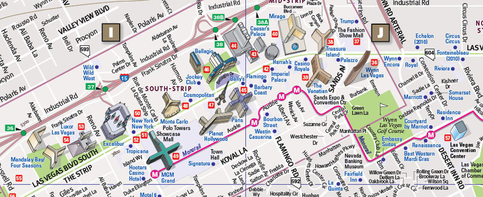 Pics Photos  Of Las Vegas Strip Detailed Map Of Las Vegas