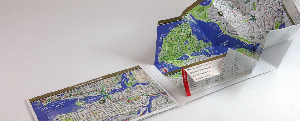 Vancouver Map by VanDam Vancouver PopUp Map City Street Maps