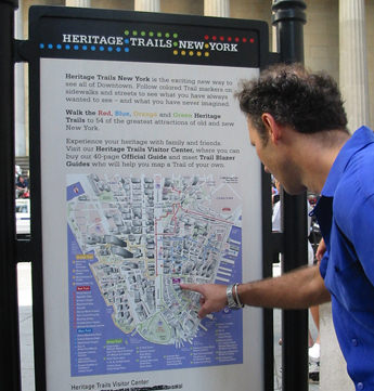 vandam map of downtown nyc, heritage trails