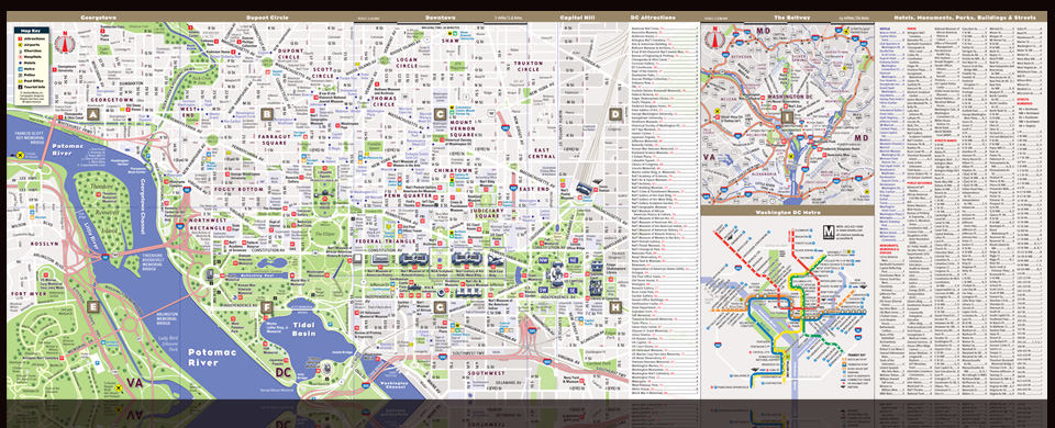 vandam map for the national gallery of art