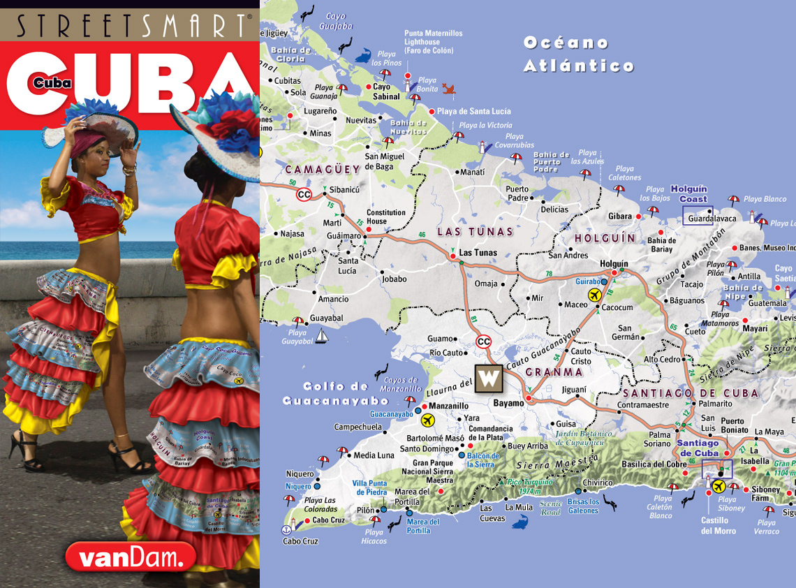 VanDam Cuba Havana Maps Hot Off The Press - Cuba map