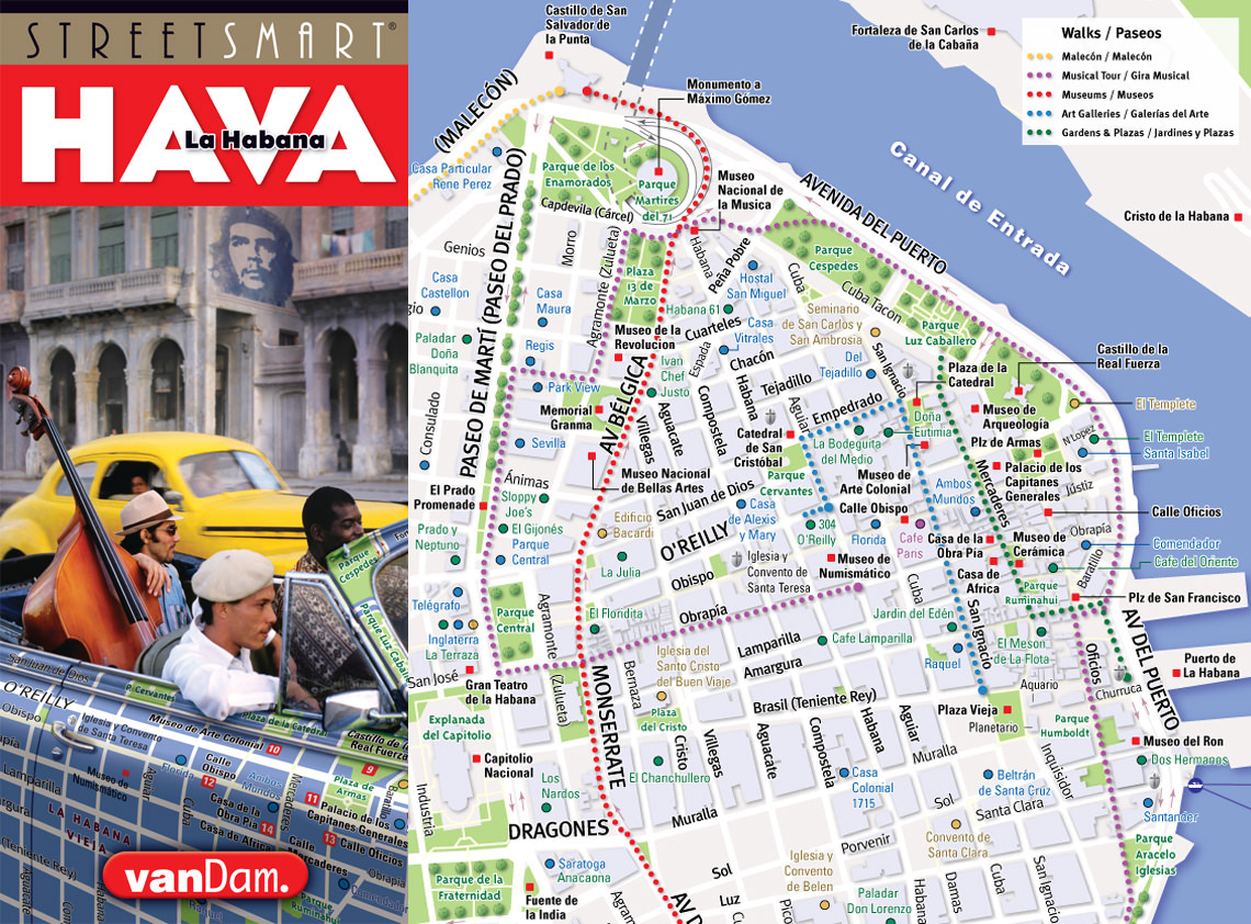 VanDam Cuba Havana Maps Hot Off the Press