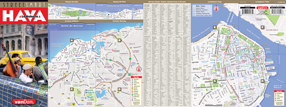StreetSmart Havana Map front unfolded