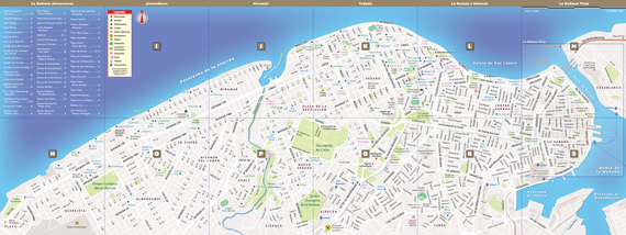 StreetSmart Havana Map reverse unfolded