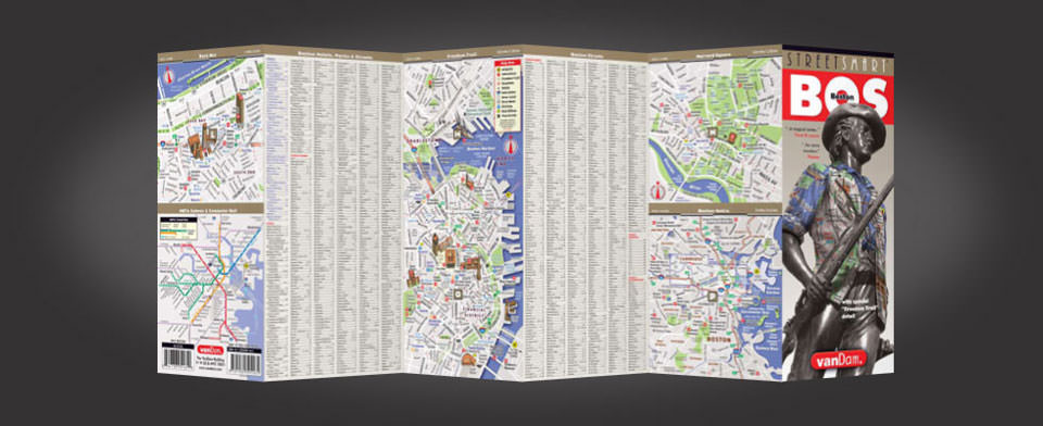 Boston street map by VanDam, StreetSmart Boston map