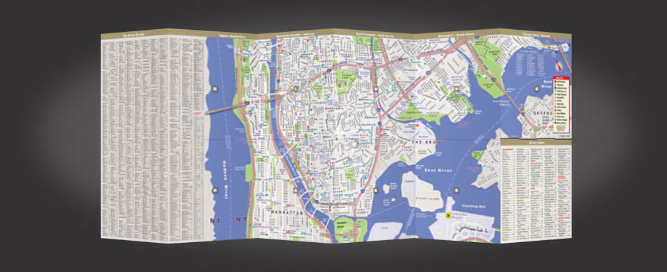 Bronx street map by VanDam, StreetSmart Bronx map