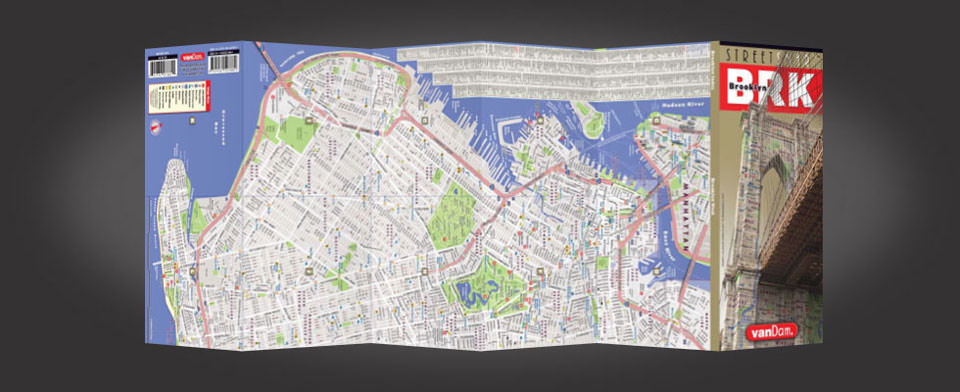 Brooklyn street map by VanDam, StreetSmart Brooklyn map