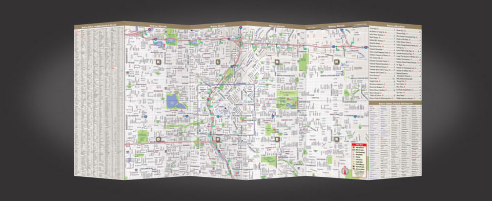 Denver street map by VanDam, StreetSmart Denver map