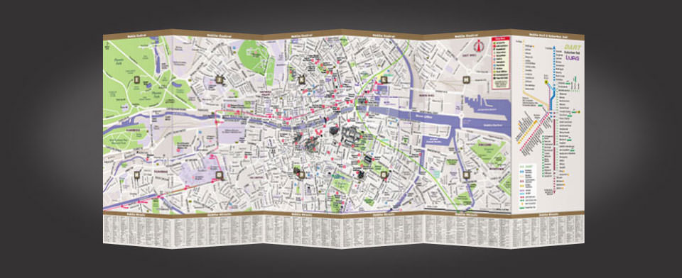 Dublin street map by VanDam, StreetSmart Dublin map