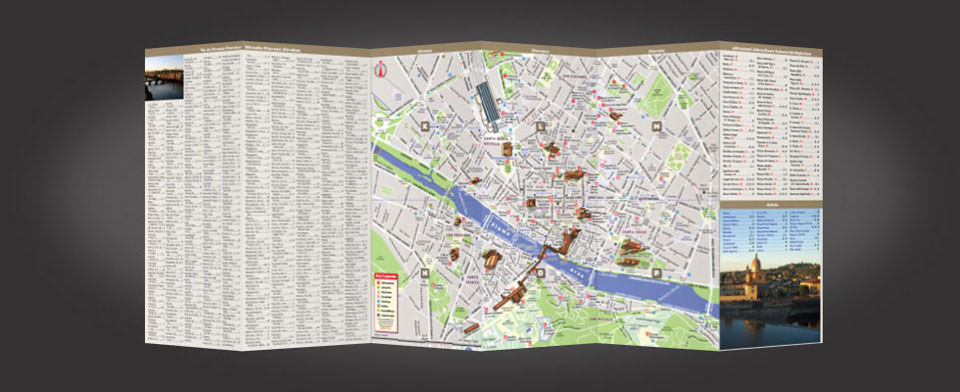 Florence street map by VanDam, StreetSmart Florence map