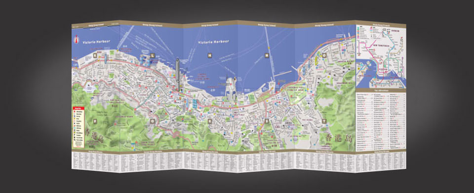 Hong Kong street map by VanDam, StreetSmart Hong Kong map