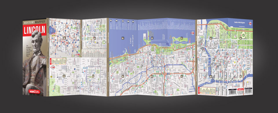 Chicago street map by VanDam, History Mapped Chicago map