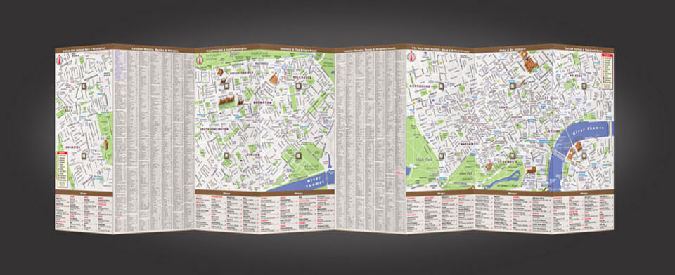 London street map by VanDam, StreetSmart London map